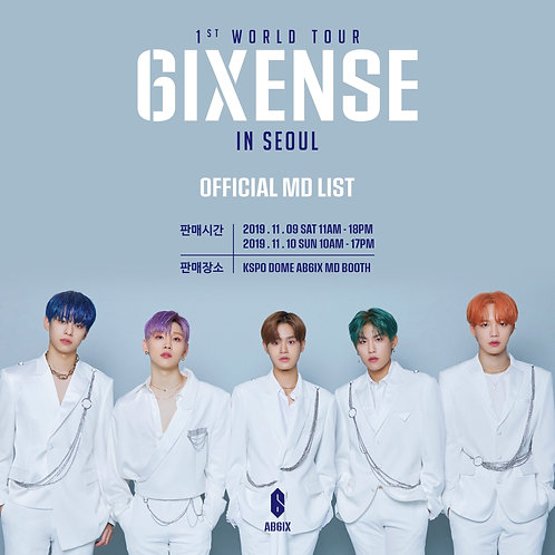 AB6IX 1ST WORLD TOUR [6IXENSE] IN SEOUL公式MD 購入代行