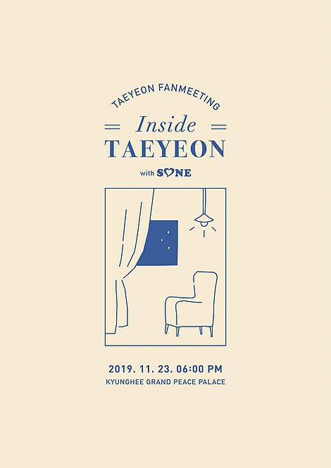 【予約】2019 TAEYEON FANMEETING [Inside - TAEYEON with S♡NE]