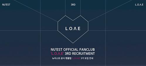 NU'EST公式ファンクラブ<L.O.Λ.E 3期> 加入代行