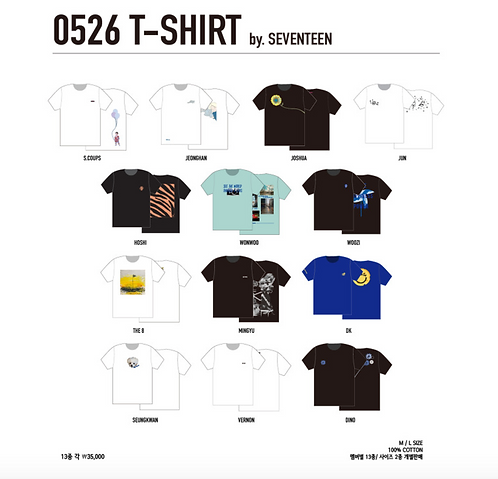 SEVENTEEN 0526 T-SHIRT 購入代行