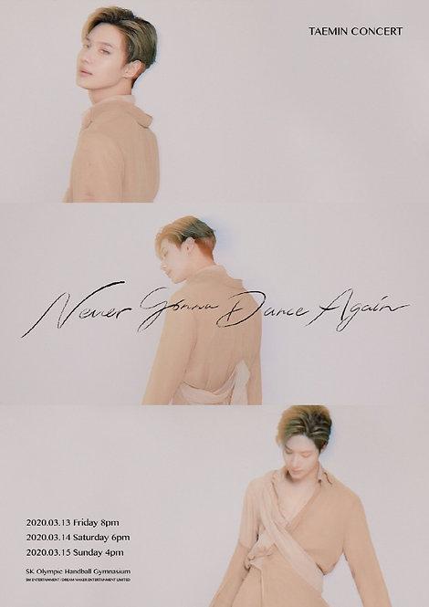 【予約】TAEMIN CONCERT - Never Gonna Dance Again