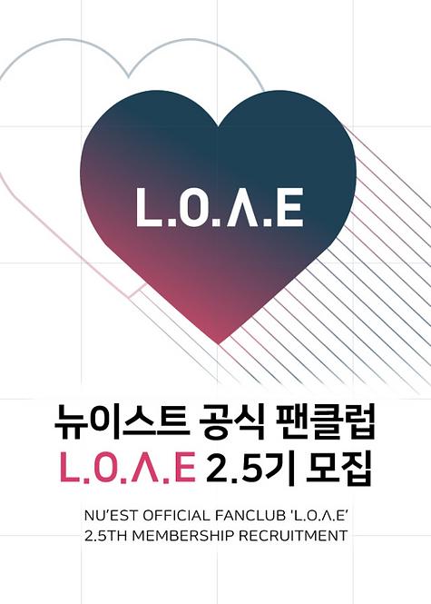 ★NU'EST L.O.Λ.E 2.5期 ファンクラブ加入代行