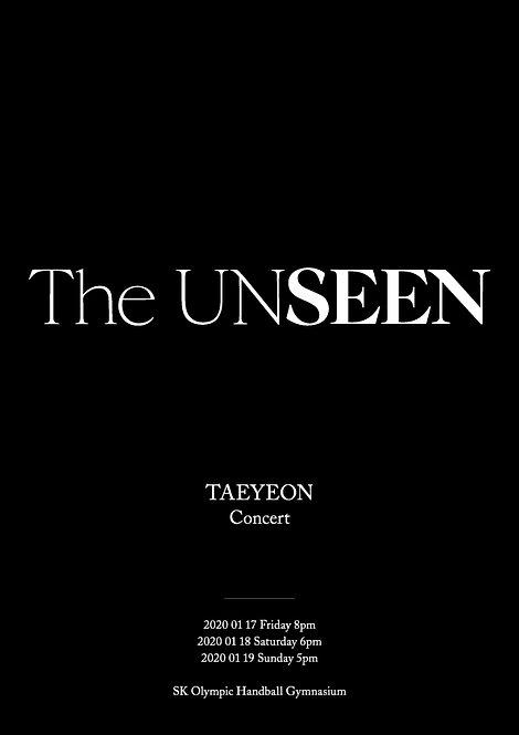 【予約】TAEYEON(テヨン) CONCERT - THE UNSEEN