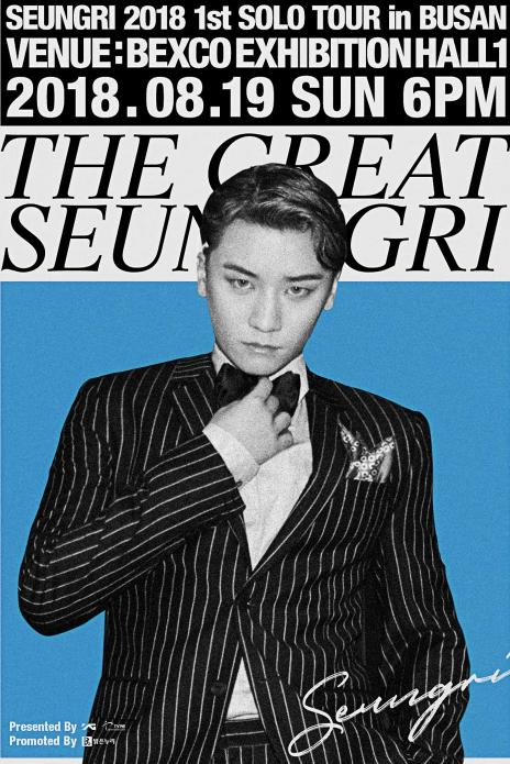 SEUNGRI 2018 1st SOLO TOUR [THE GREAT SEUNGRI] IN SEOUL
