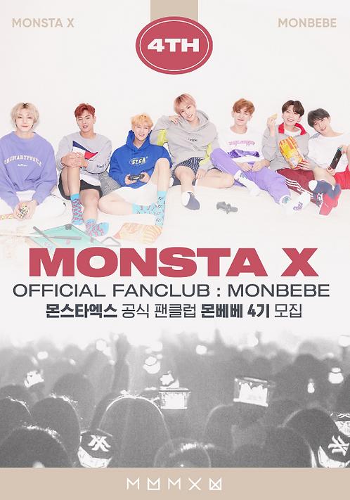 MONSTA X 公式ファンクラブ<MONBEBE4期>加入代行