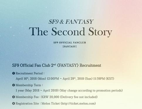 ★SF9 公式ファンクラブ<FANTASY>2期 加入代行