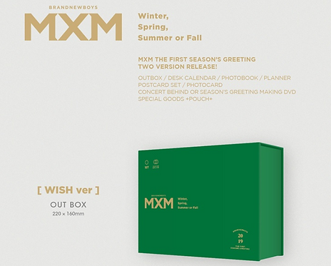 MXM 2019 SEASON'S GREETINGS(Wish Ver.)