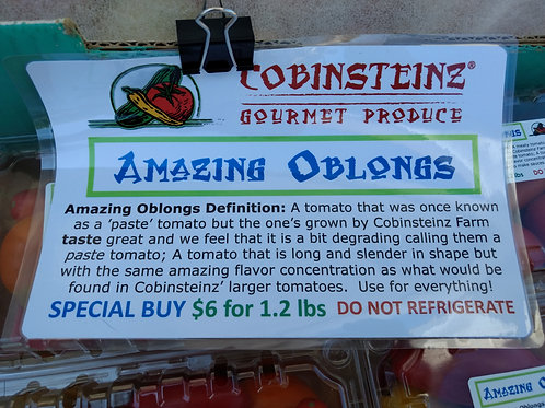 Amazing Oblongs - sweet tomatoes
