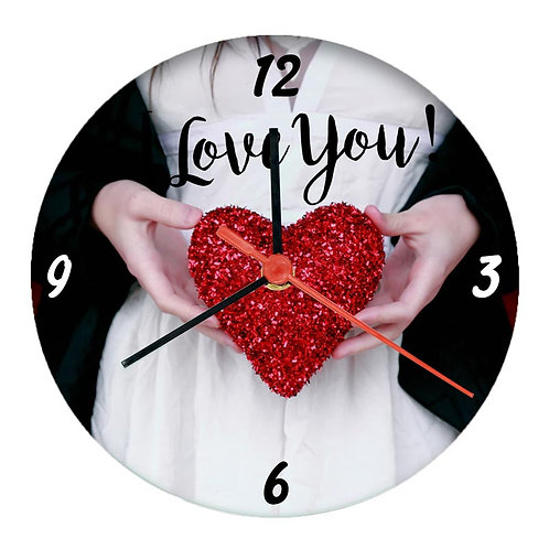 Glass clock w/ your picture