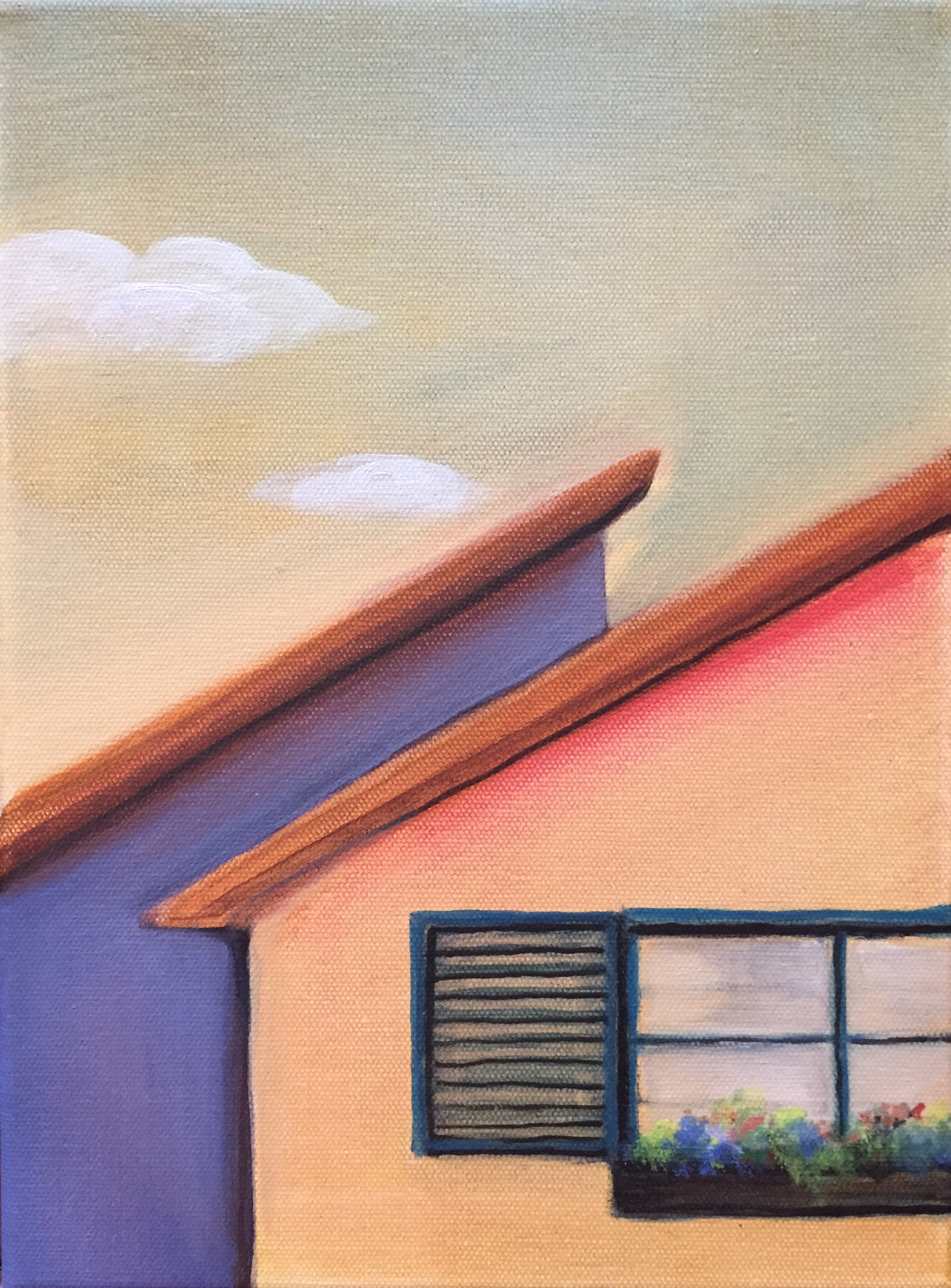 Rooftops and a Window by H. Warr