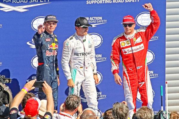 Max Verstappen, Nico Rosberg, Kimi Räikkönen