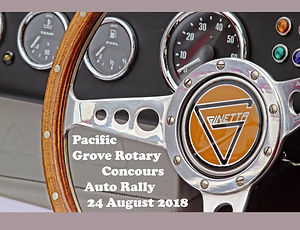 Pacific Grove Rotary Concours Auto Rally