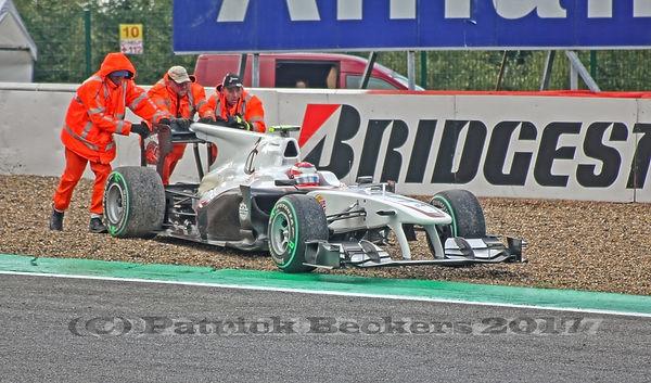 Kamui Kobayashi, Sauber F1, Spa-Francorchamps