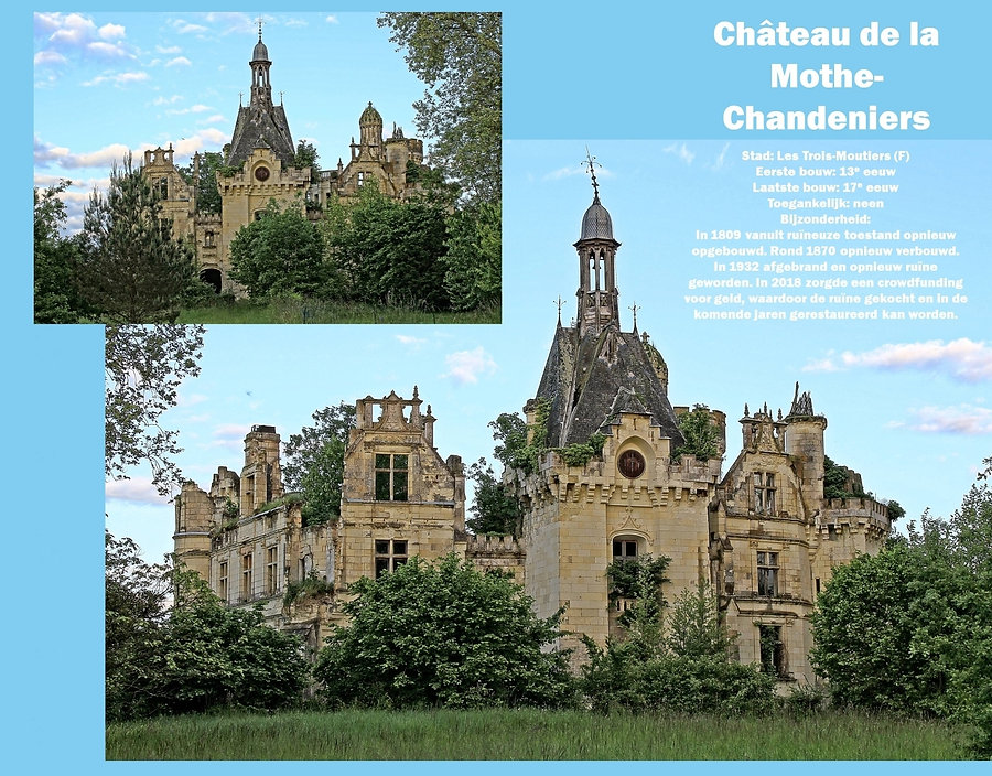 Château de Motte-Chandeniers, France