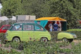 Fiat 600 Multipla Taxi + Pfefferkorn aanhanger - 1956-59