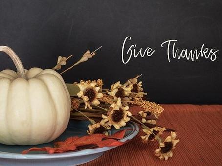 Thanksgiving 2020: Being Present