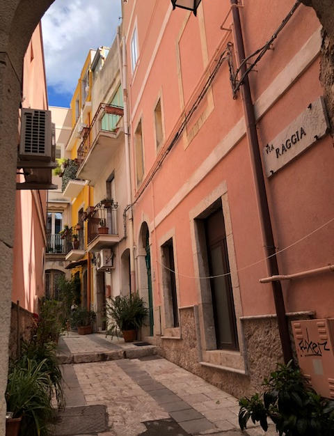 One of many beautiful streets in Taormina