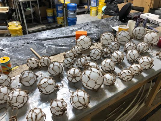 Netted ball decor