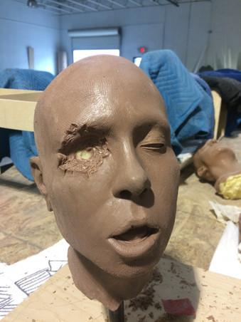 Sculpted Horror Head
