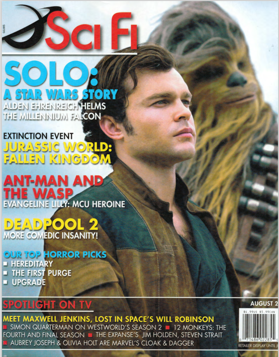 A cover of SCI FI magazine