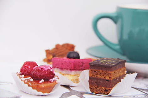 Selection of mini cakes from Caterig Twist, Perth, UK