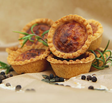 Vegetarian mini quiches from Catering Twist, Perth, UK