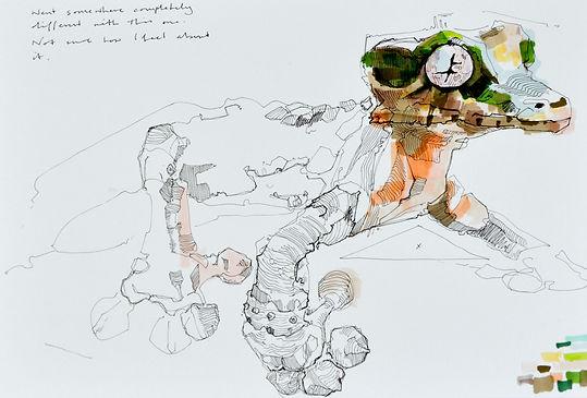 gecko drawing