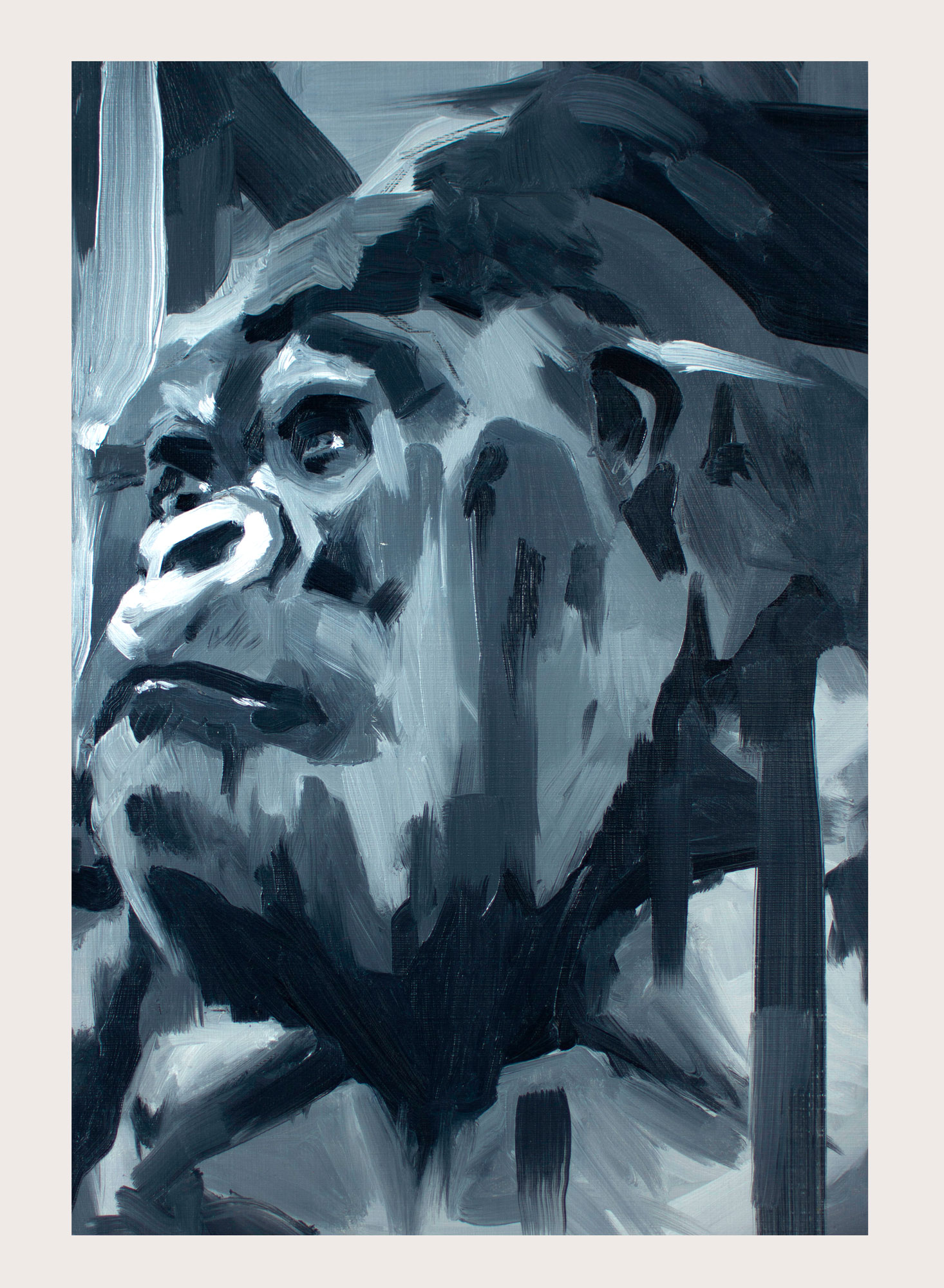 Just an Ape | Oil on paper | A3
