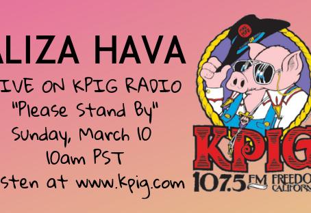 Aliza Performs LIVE on KPIG Radio