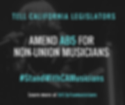 Stand with CA Musicians