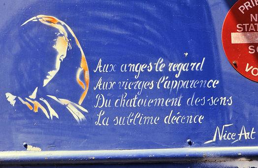 Passage Delaunay, Paris 11, la vierge de Nice Art, 1987
