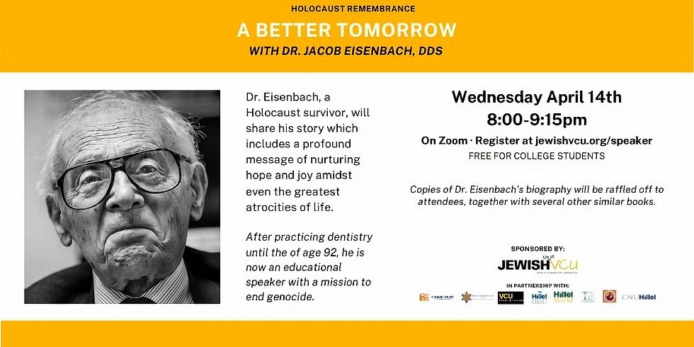 A Better Tomorrow - Holocaust Remembrance Lecture