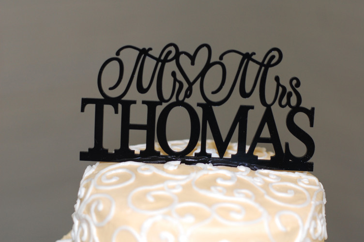Special order cake topper