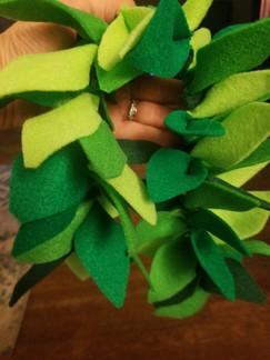 Handmade felt garland