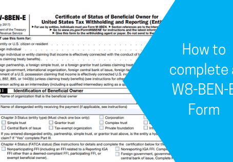 U.S. withholding tax for Canadian individuals and corporations.  What is a W-8BEN & W-8BEN-E form?