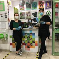 Volunteers at reception
