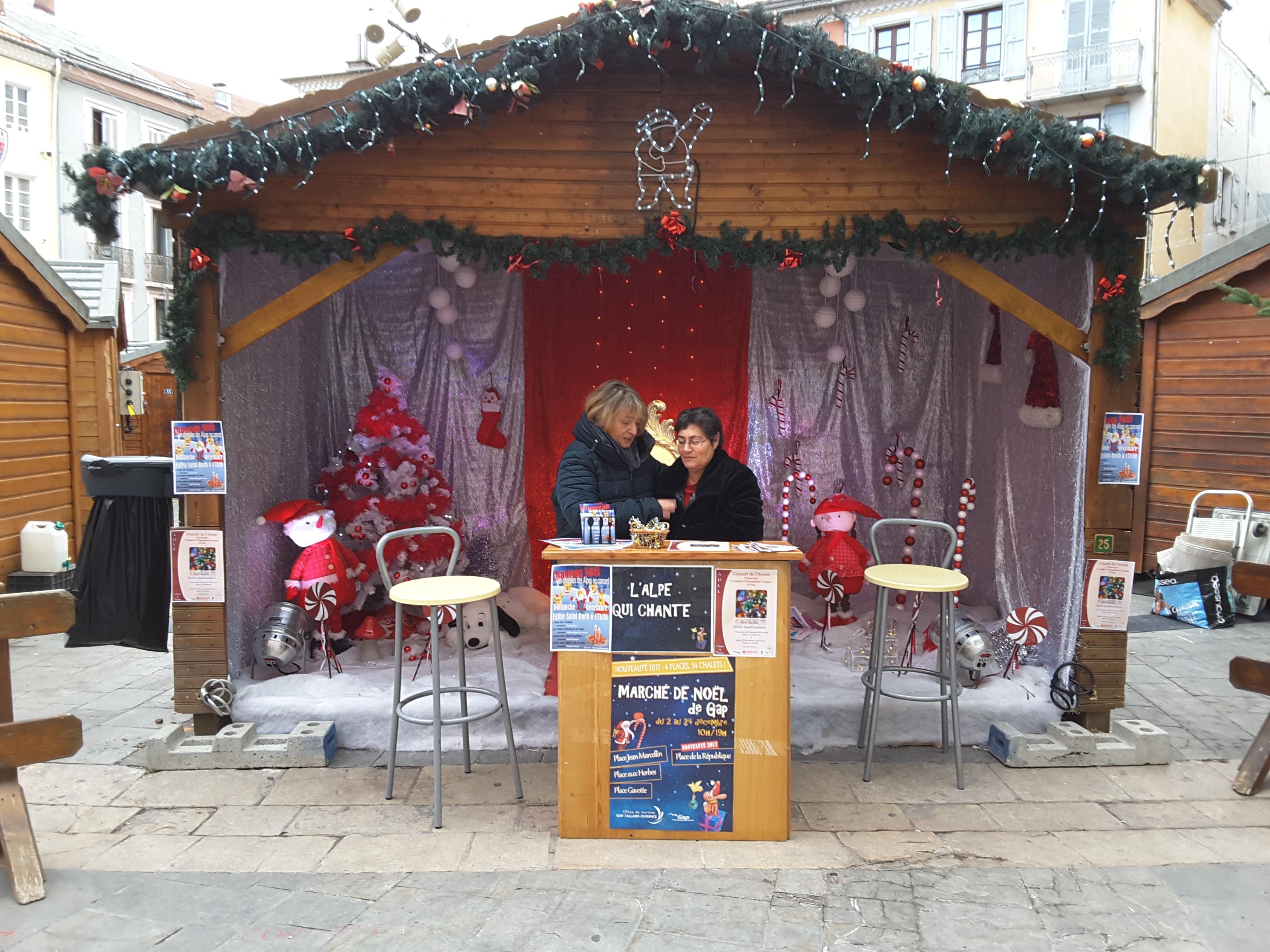 Stand de Noël de l'Alpe