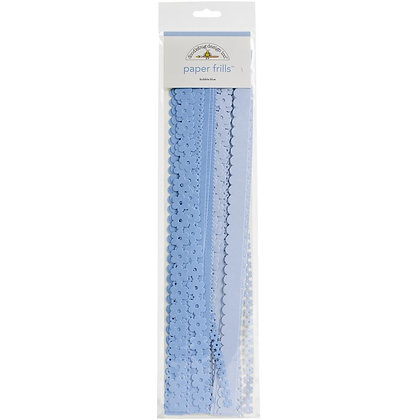 "Paper Frills 12"" Strips Bubble Blue"
