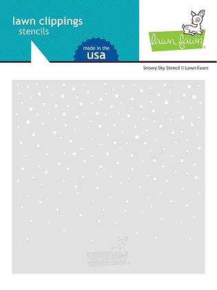 Snowy sky stencil