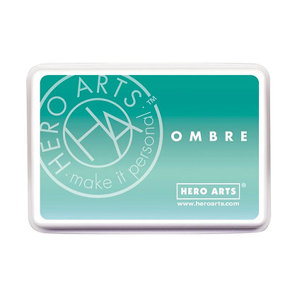 Ombré Mint to Green Ink Hero Arts