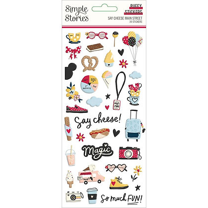 Say Cheese Puffy Stickers