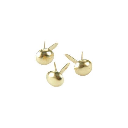 Mini Metal Paper Fasteners 3mm 100/Pkg  Round - Gold