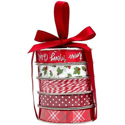 Premium Ribbon & Twine 5/Pkg Merry Christmas