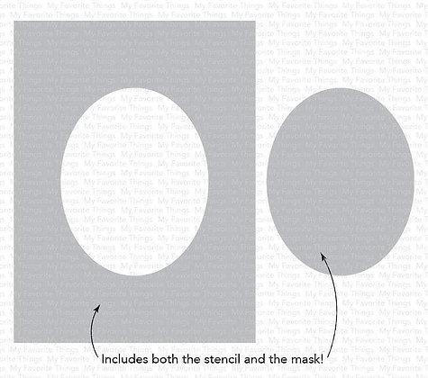 Oval Extraordinaire Stencil WS