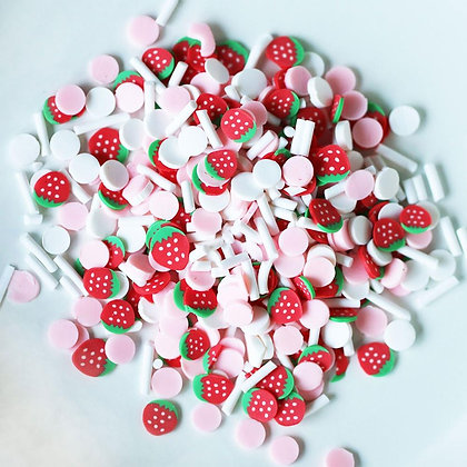 Dress My Crafts Shaker Elements 8gm Strawberry Confetti Mix