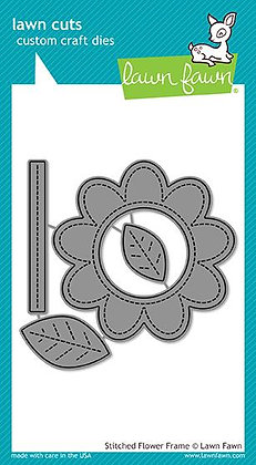Stitched flower frame