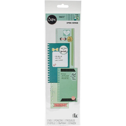 Sizzix Thinlits Die Set 2PK - Planner Page Bindables