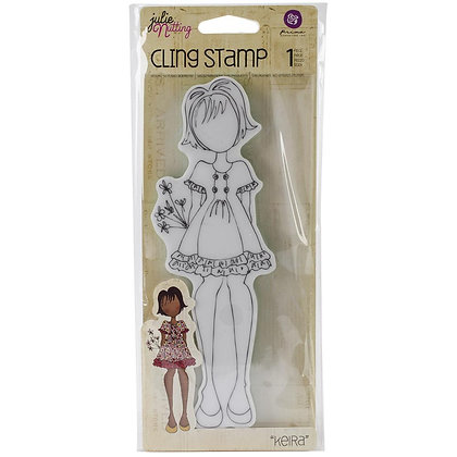 Prima Marketing Julie Nutting Mixed Media Cling Rubber Stamp Kiera