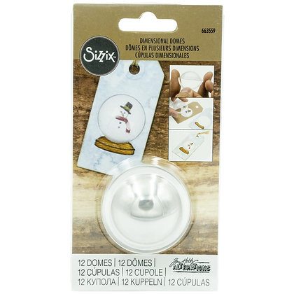 Sizzix Dimensional Domes 12/Pkg Inspired By Tim Holtz
