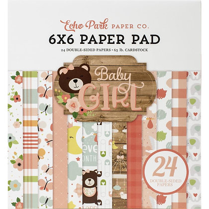 "Baby Girl pad 6""x6"""